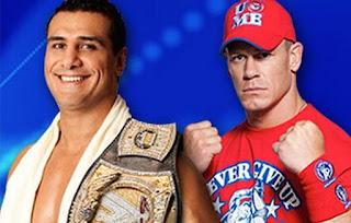 imagen de alberto del rio y john cena por el campeonato de la WWE en night of champions