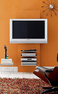 wall mounted TV ideas | Jennifer Adams