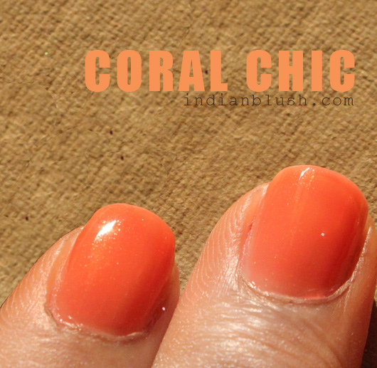 Maybelline Colorama Nailpolish Coral Chic shade swatches
