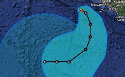 Tropischer Sturm IRWIN vor Mexiko sollte langsam die Kurve kriegen, denn , Irwin, Pazifik, Mexiko, Vorhersage Forecast Prognose, Verlauf, Zugbahn, aktuell, Oktober, 2011, Hurrikansaison 2011,