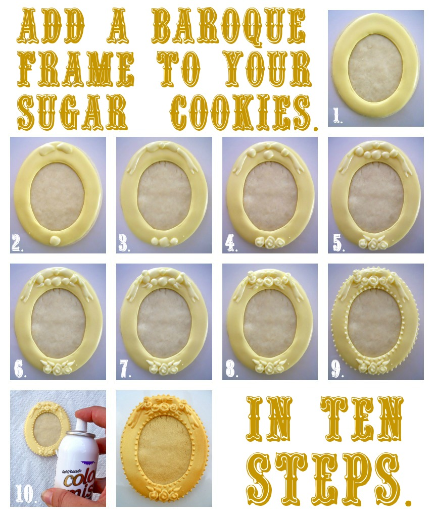 Oh Sugar Events: Baroque Cookie Frame Tutorial