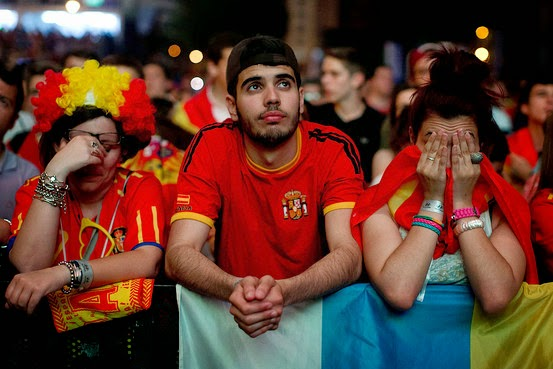 spain fans reaction to their teams performance in 2014 football world cup
