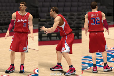 NBA 2K13 Road Jersey Mod Preview - Blake Griffin