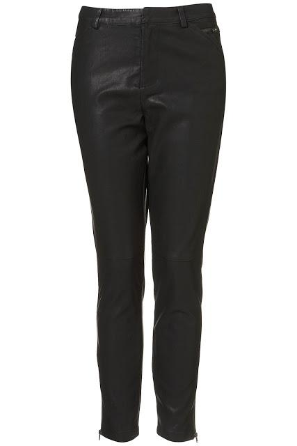 Topshop faux leather trousers