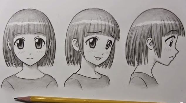 Cute Anime Faces Drawing How to Draw Anime Face 1