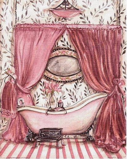 Laminas Baño Vintage:dibujos de bañeras para imprimir