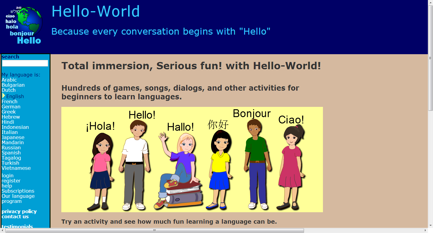 Worksheet Children Learning Site learning never stops 10 websites for foreign language the site has games songs worksheets and a dictionary all designed to make learning