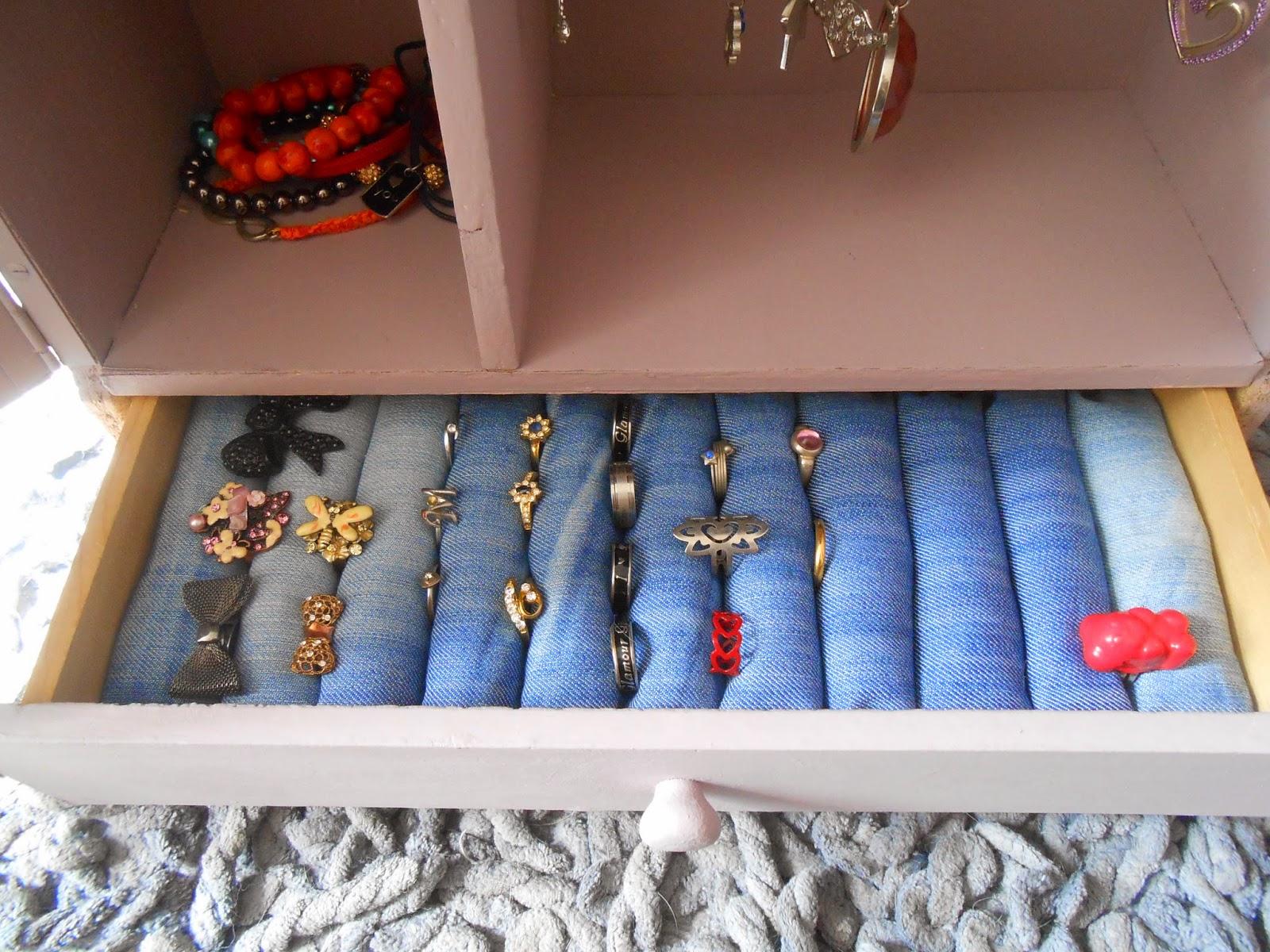 Les loisirs de patouch tiroir transformer en pr sentoir - Comment ranger ses boucles d oreilles ...