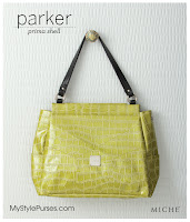 Miche Bag Parker Prima Shell, Green Croc Purse