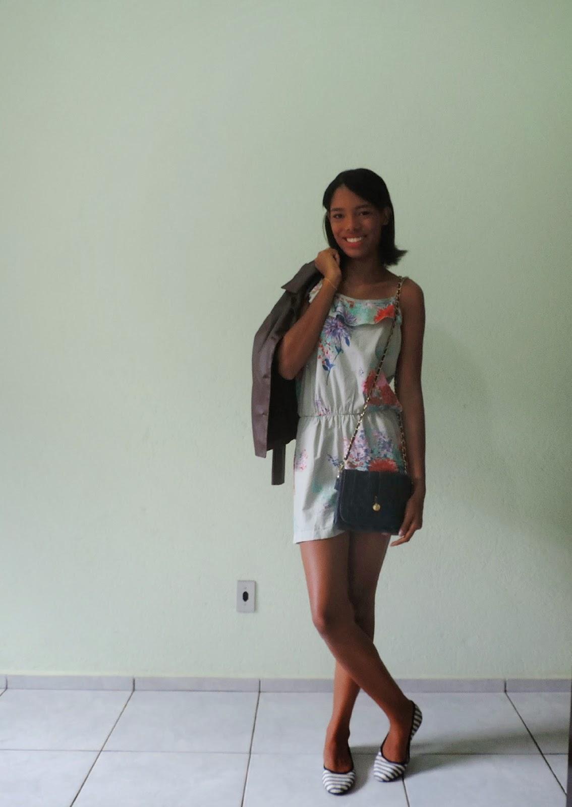 ♥ Look do Dia: Macaquinho floral ♥