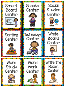 Center labels for first Grade