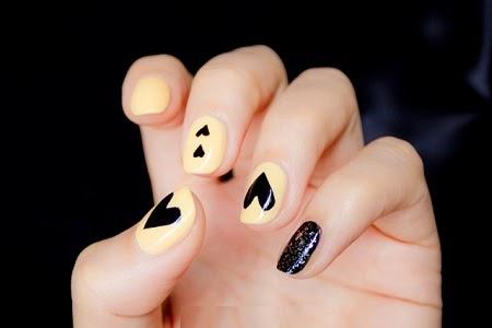 Uñas Pintadas para San Valentin, Color Negro