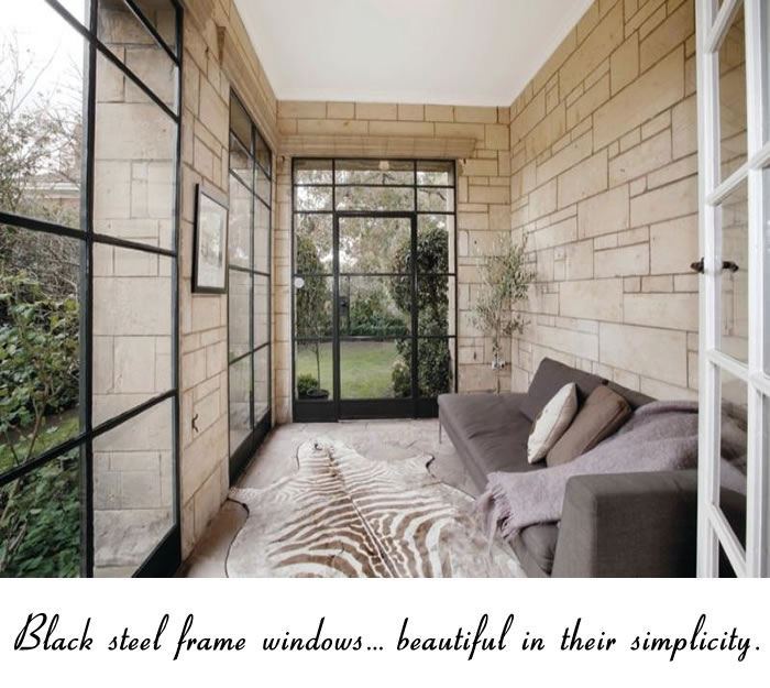 Black Steel Framed Windows : just simple. » glamour drops