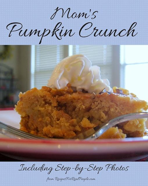 Mom's Pumpkin Crunch recipe including step-by-step photos.