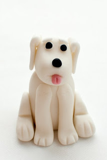 Kuža iz tičino mase - Dog from fondant
