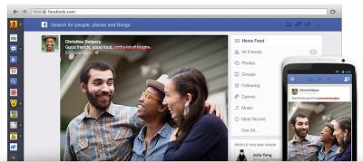 tampilan baru facebook