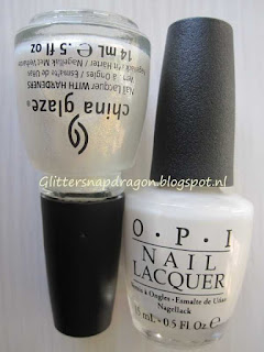 OPI Don't touch my tutu and China Glaze White Cap
