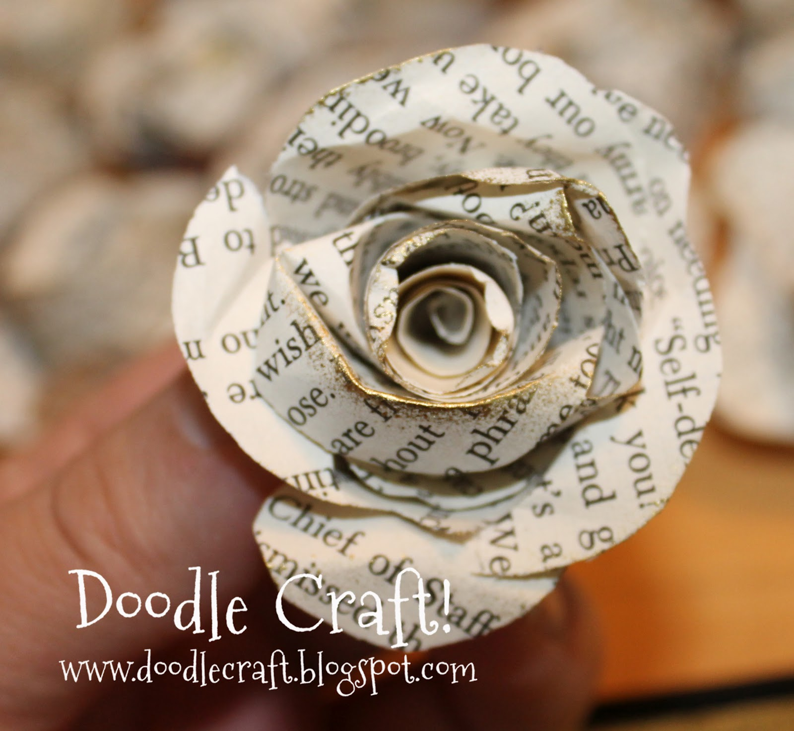 Upcycled Book Page Rosettes