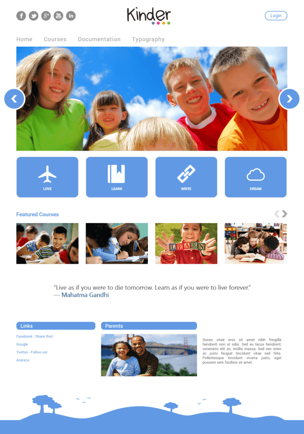 Kinder - Moodle Theme