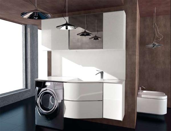 C mo integrar la lavander a en una casa ideas para for Mueble para lavadora