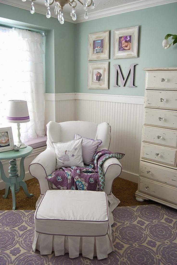 Habitacion bebe lila affordable habitacin de beb con for Habitacion lila y blanca