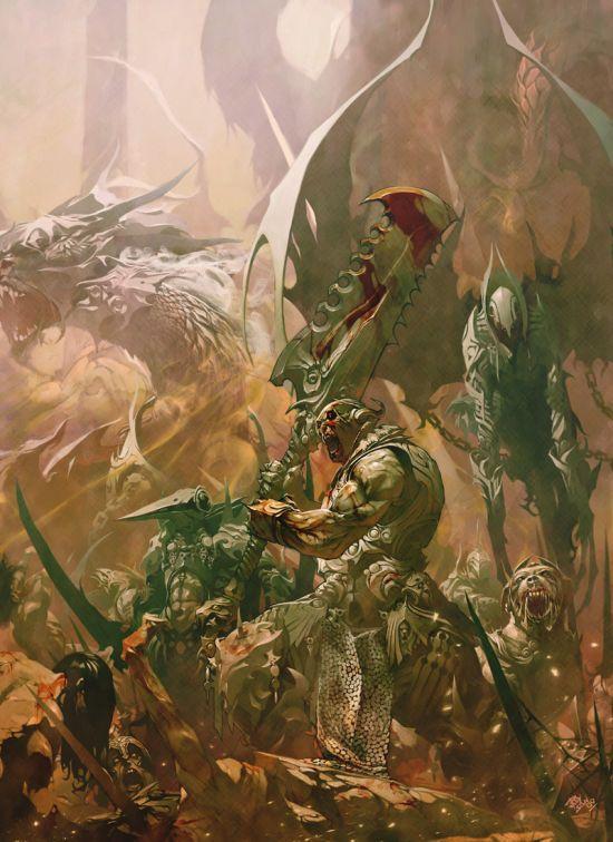 Reynan Sanchez ilustrações fantasia games Guerreiros da abominação