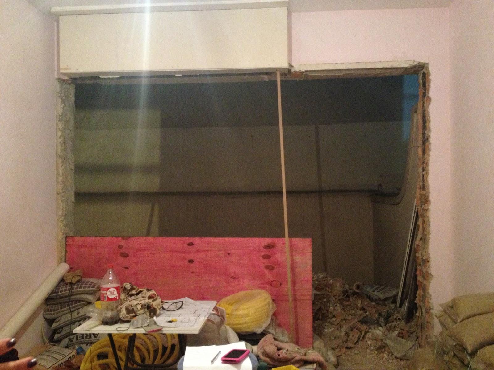 parede da sala pra área sem parede vai entrar uma porta de vidro  #946437 1600 1200