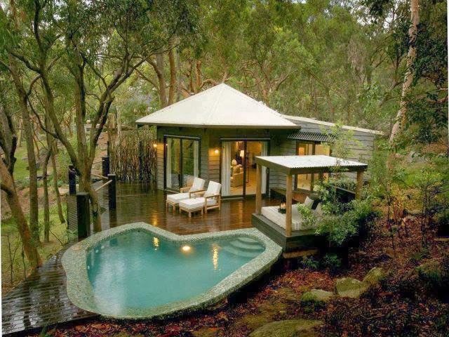 Awesome Wood Cabin with Pool