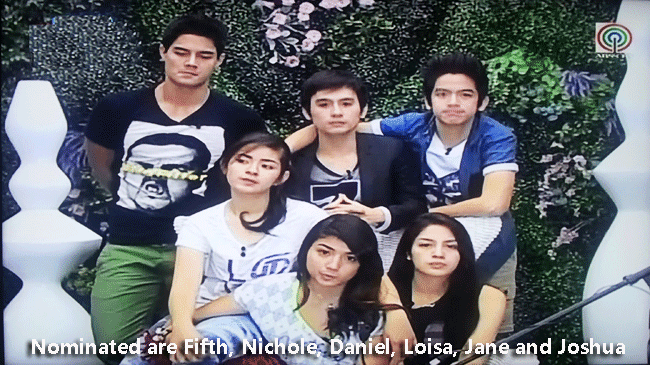 Six Housemates Nominated for PBB All In are Fifth, Nichole, Daniel, Loisa, Jane and Joshua
