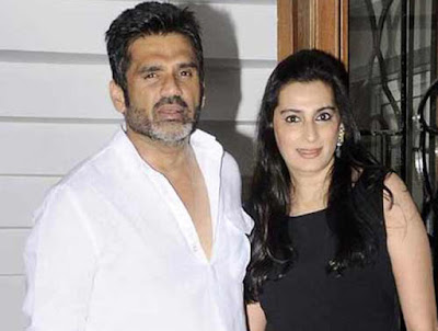 sunil shetty and his wife