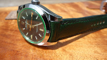 Jonathan's Rolex Milgauss on Custom Green Kangaroo with TCLS fit