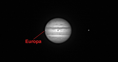 Jupiter with Europa and Io
