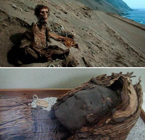 Múmias Chinchorro, no sul do Peru.