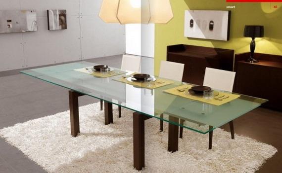 Decora y disena 15 comedores modernos para el interior de for Comedores en madera y vidrio