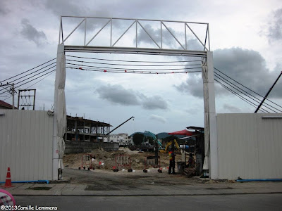 Central Festival Samui construction entrance