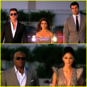 Simon Cowell & Paula Abdul On 'X Factor' World Premiere