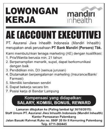 Lowongan Kerja PT. Asuransi Jiwa Inhealth Indonesia