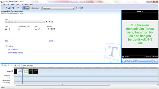 16. Lalu saya ingin memasukangambar ke dalam video, dengan cara ...