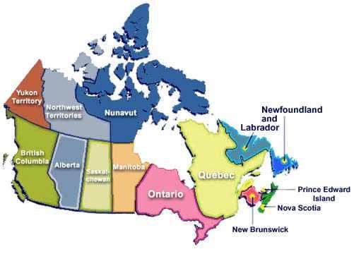 División político-territorial de Canadá. Vivir en Canadá ...