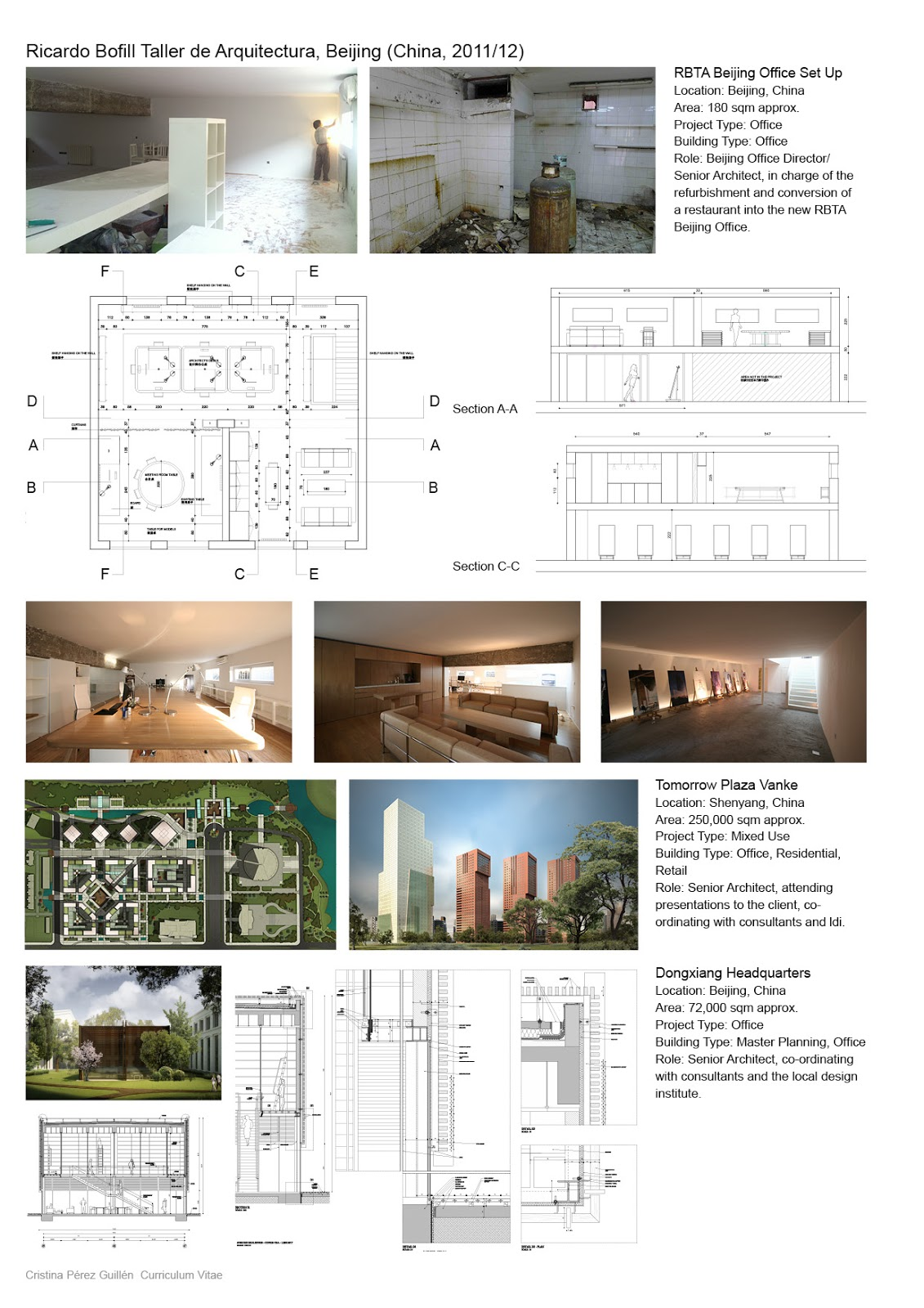 One team architects cristina p rez guill n cv - Cristina guillen ...