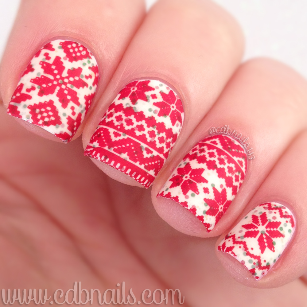 Cdbnails 12 Days Of Christmas Nail Art Ugly Sweater