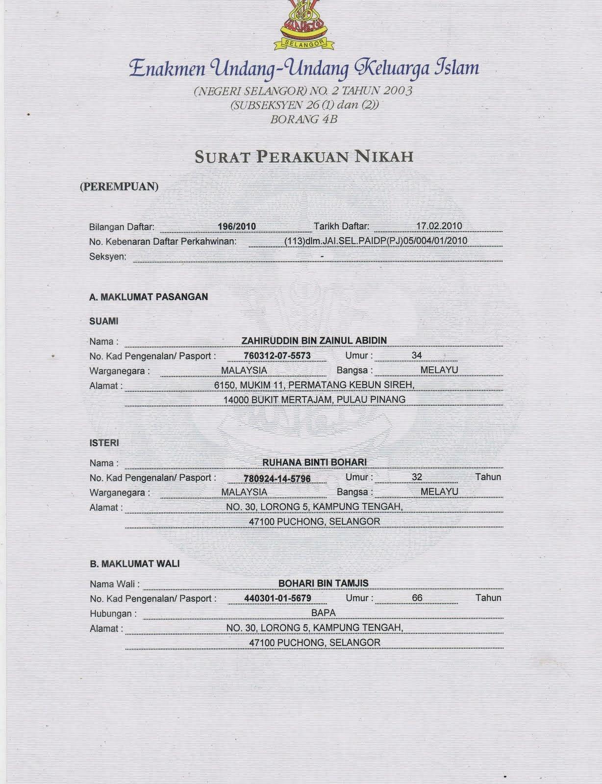 Thousandyears Panduan Menguruskan Dokumen Nikah Selangor Jais