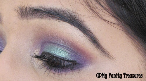 Purple and Green Eye Makeup