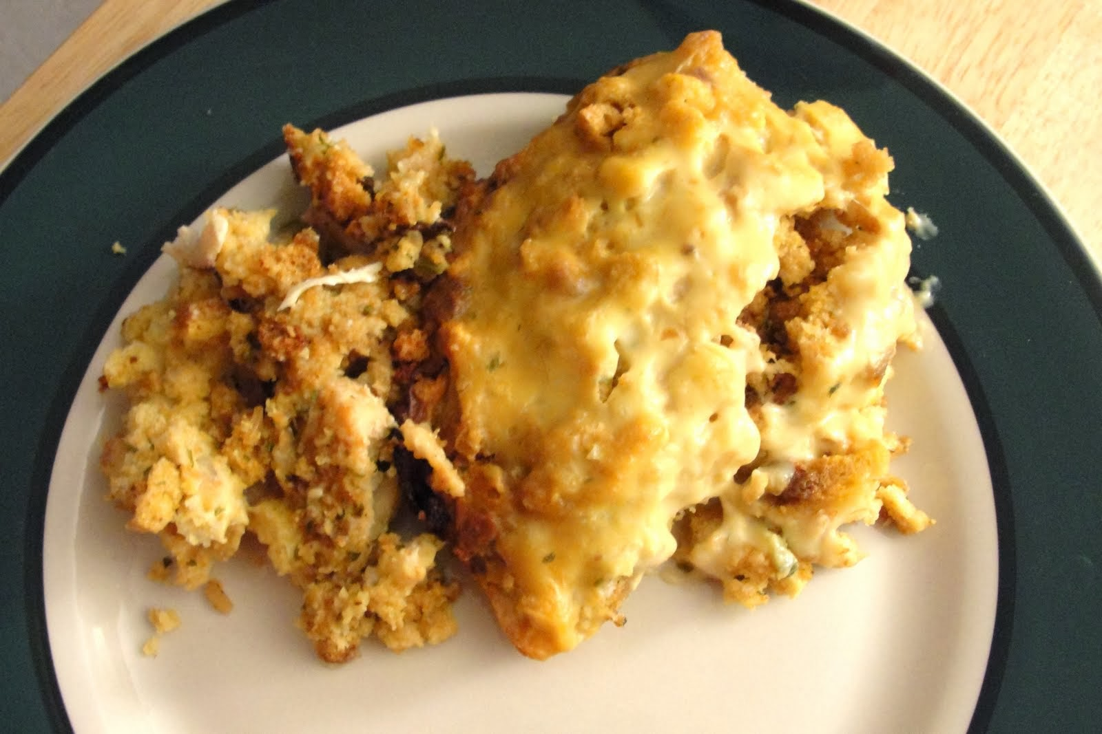 EASY Crockpot Chicken & Stuffing