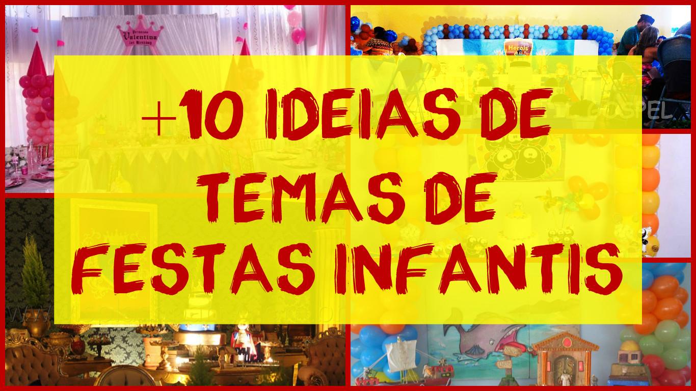 festa ideias de temas para aniversrio infantil