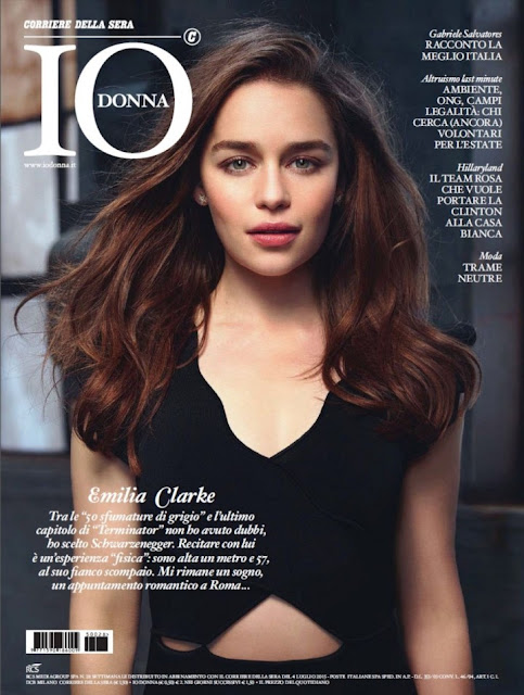 Emilia Clarke on coverpage of Io Donna Magazine July 2015 Issue