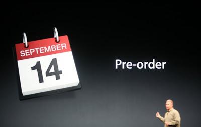 iphone 5 pre order date