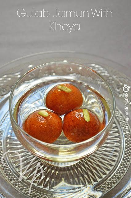 gulab jamun recipe with video - gulab jamun with khoya