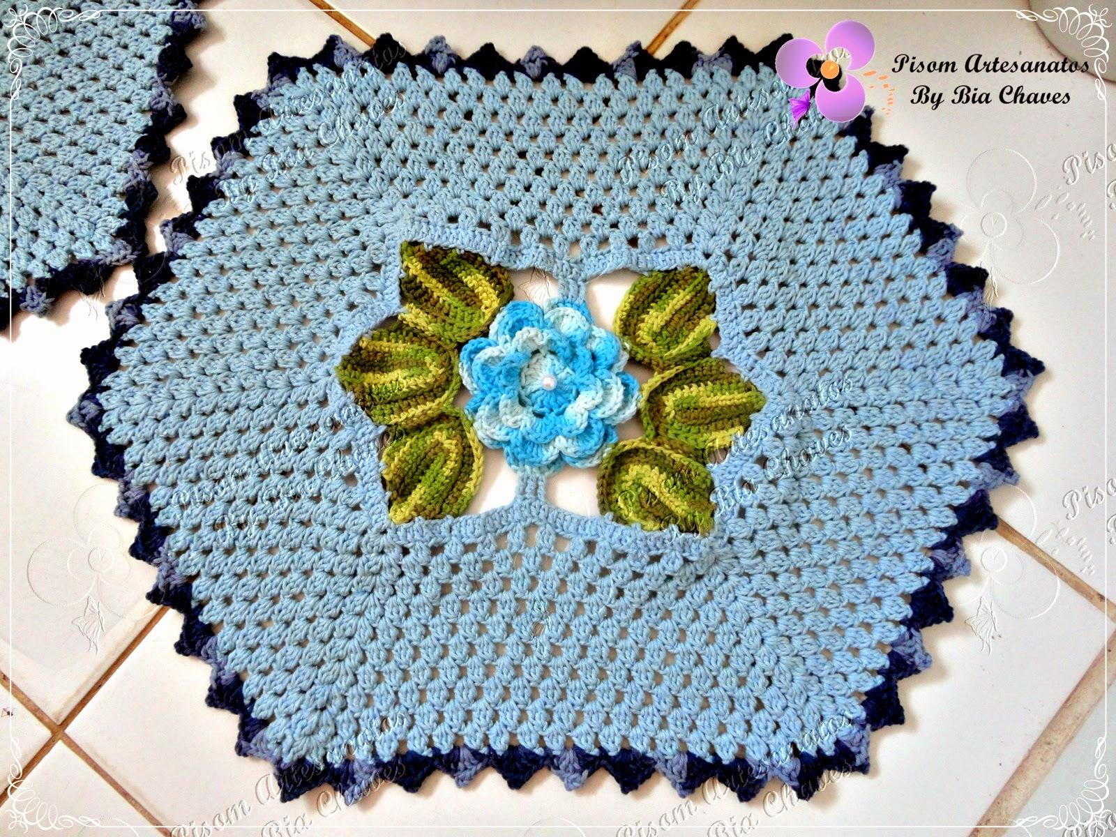 Pisom Artesanatos By Bia Chaves: Jogo de Banheiro Charme Azul #797423 1600x1200 Banheiro Com Detalhes Azul