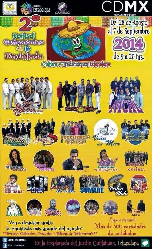Cartel Feria Enchilada Iztapalapa 2014